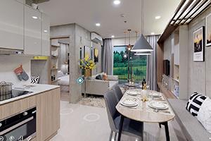 Bán căn hộ chung cư Vinhomes Ocean Park 2PN + 1 - 59.1m2 - Nhiều ánh sáng