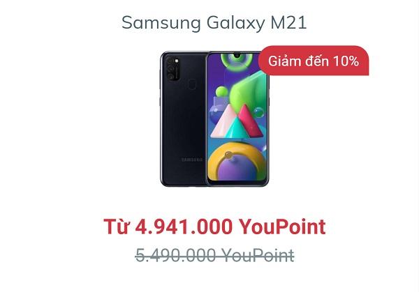 Galaxy M21 – Siêu pin mãnh thú