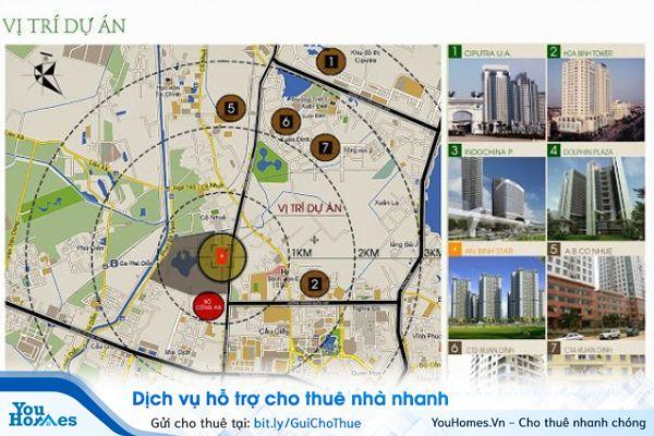 Một số vị trí mà các nhà đầu tư chung cư Việt Nam lựa chọn.