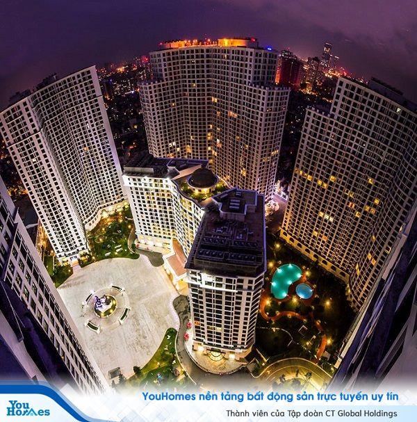Khu chung cư cao cấp Royal City khi lên đèn