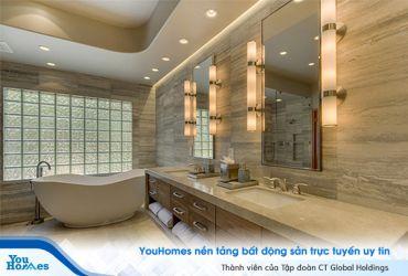 Mẹo thiết kế cho phòng tắm nhỏ trở nên thoải mái