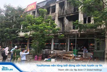 Cháy dữ dội dãy biệt thự liền kề gần Thiên Đường Bảo Sơn