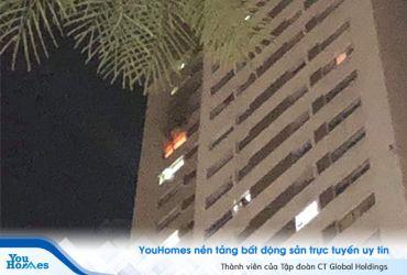 Cháy lớn ở The Pride Tố Hữu, người dân hoảng sợ bỏ chạy trong đêm