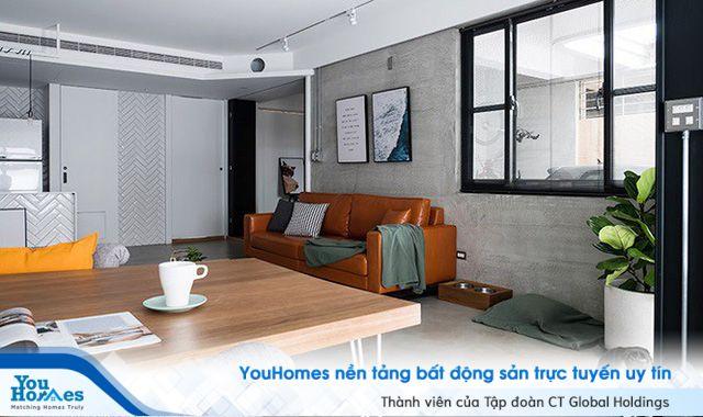 Cách trang trí căn hộ với tường xi măng