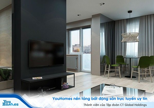 Sáng tạo căn hộ studio với thiết kế đơn sắc hiện đại
