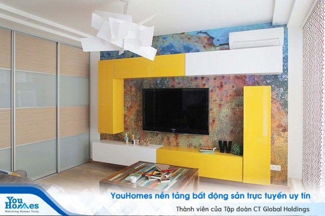 Kết hợp màu sắc tuyệt vời cho căn hộ 25m²