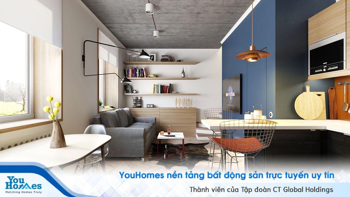 Thiết kế căn hộ độc đáo với gam màu hiện đại