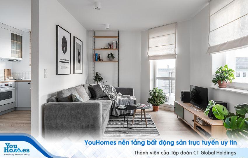 Thiết kế theo phong cách Bắc Âu hiện đại cho căn hộ 46m2