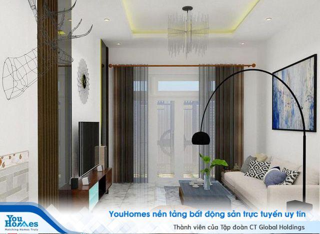 Nhà ống 4 tầng mang phong cách hiện đại