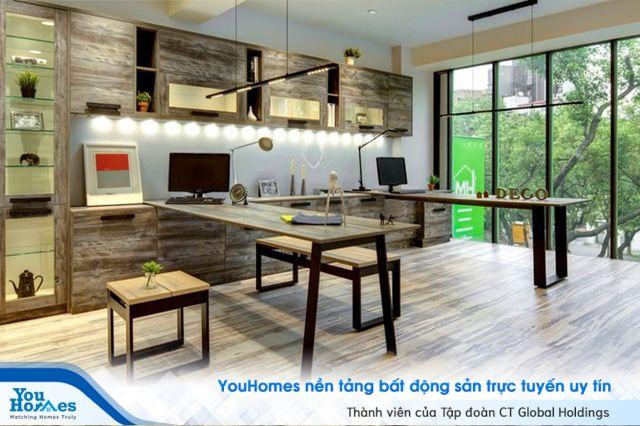 Ý tưởng thiết kế officetel với gỗ tái chế