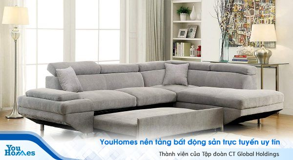 Giường tích hợp sofa - Sự lựa chọn tuyệt vời cho người trẻ độc thân