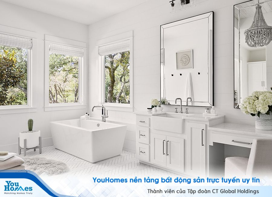 Thư giãn tại nhà chuẩn spa với thiết kế phòng tắm siêu đẹp