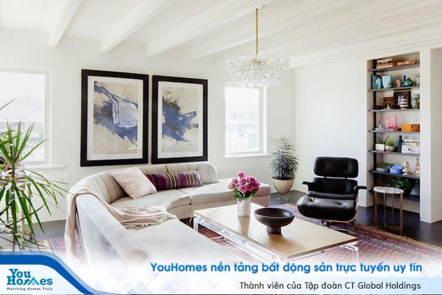 Phối hợp màu sắc tuyệt vời cho căn hộ hiện đại