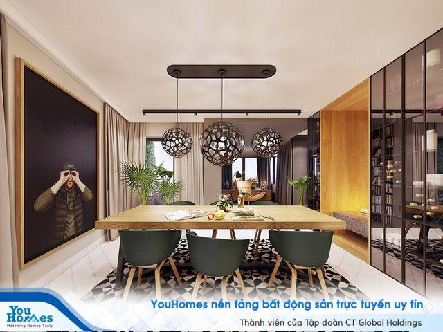 Đỉnh cao thiết kế, kết hợp màu sắc cho căn hộ