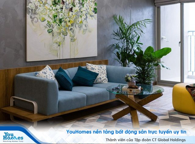 Dịu dàng sắc xanh trong căn hộ chung cư lý tưởng