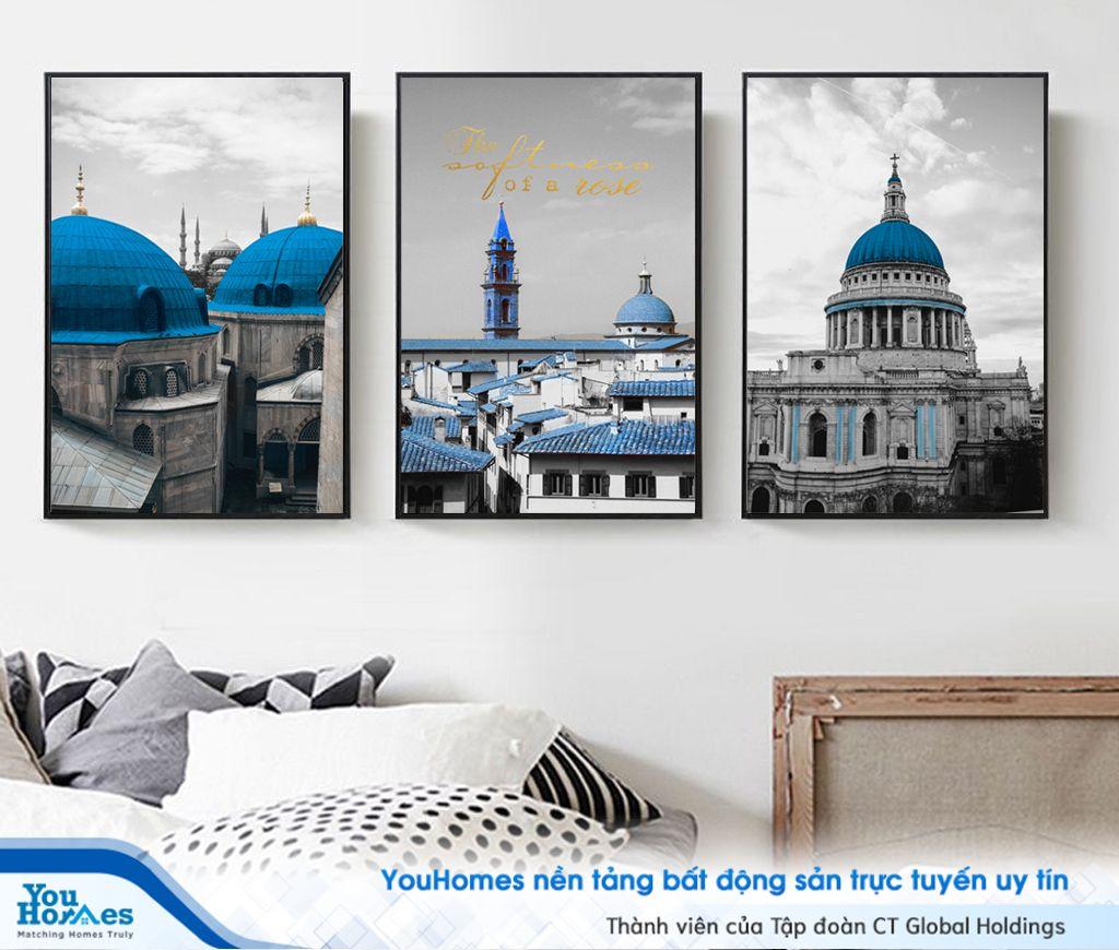 Nghệ thuật treo tranh canvas dành cho căn phòng của bạn