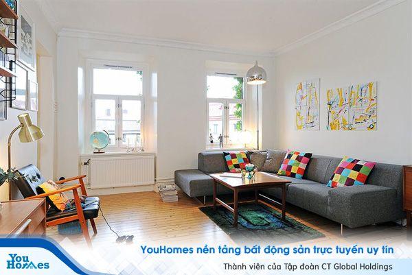 Trầm trồ với mẫu phòng khách theo phong cách Scandinavian