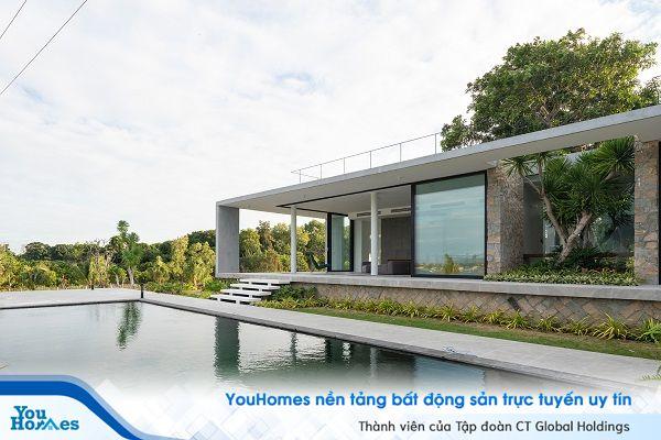 Thiết kế biệt thự 1 tầng mái bằng tuyệt đẹp tại Khánh Hòa