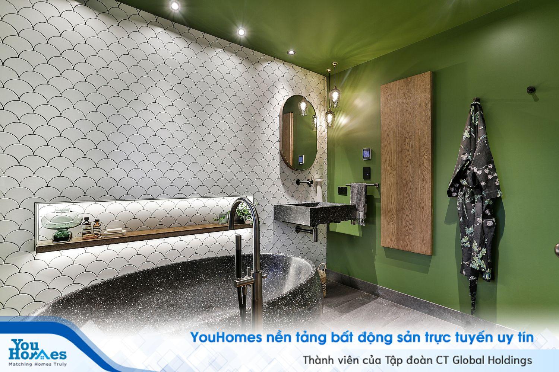 Phong cách thiết kế độc đáo cho phòng tắm năm 2020