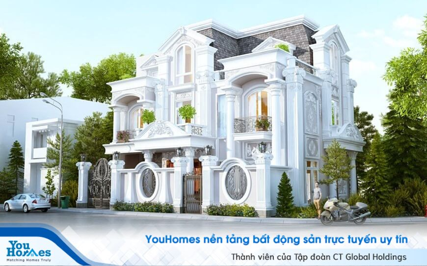 15+ mẫu biệt thự 3 tầng cổ điển siêu đẹp làm bạn mất ăn mất ngủ!