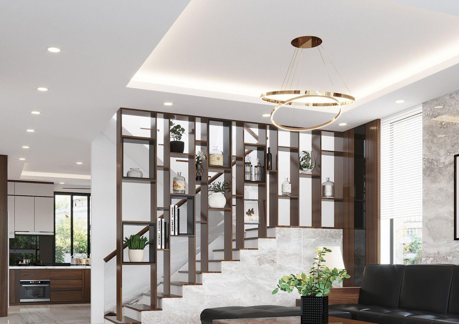 Những mẫu vách ngăn giữa phòng khách và cầu thang được ưa chuộng nhất!