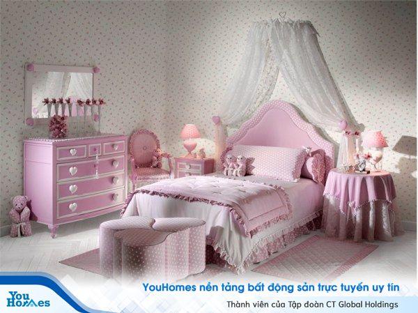 Phòng ngủ tuyệt đẹp cho những cô bé nữ tính