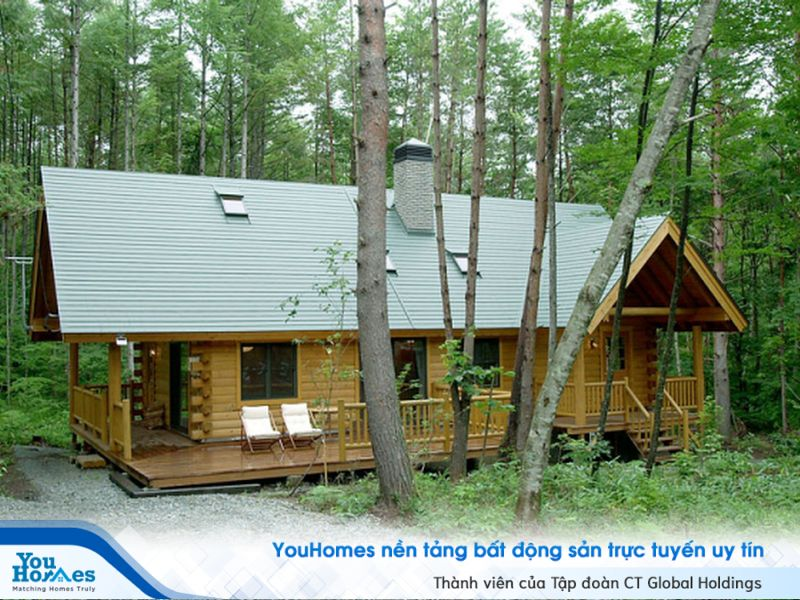 Ứng gỗ trong thiết kế và xây dựng nhà rất phổ biến tại Nhật.