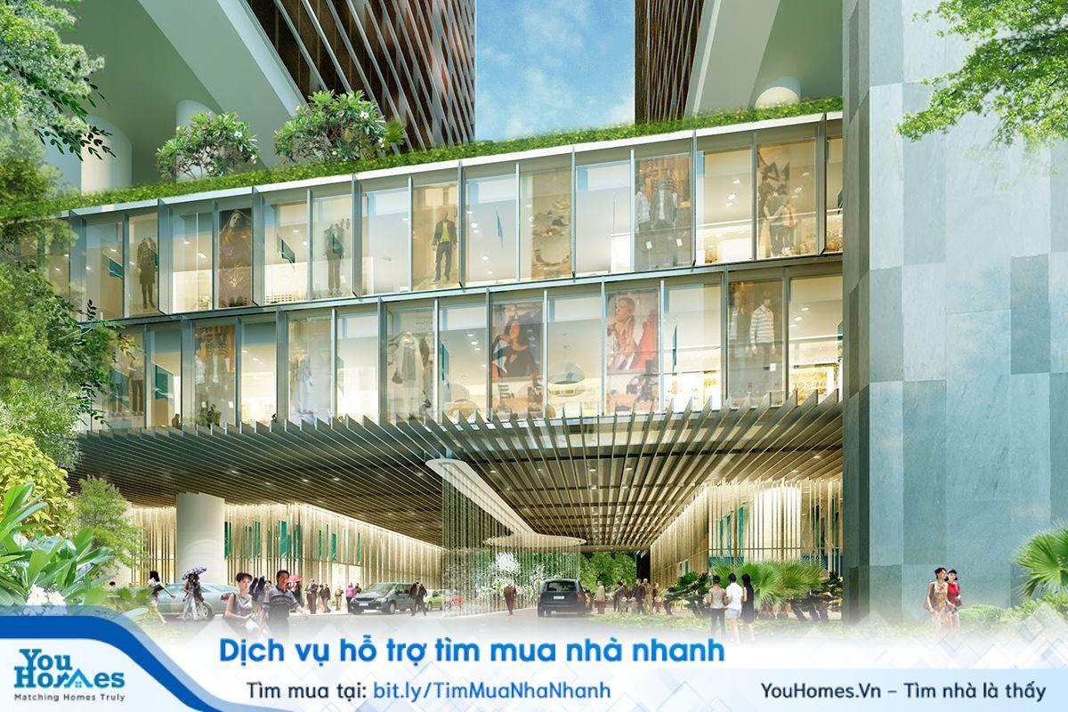 Trung tâm thương mại thuộc dự án Dolphin Plaza