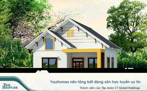 Mẫu nhà cấp 4 mái thái - 2 phòng ngủ nên lựa chọn tông màu sáng sẽ giúp căn nhà trở nên sáng sủa và rộng rãi hơn.