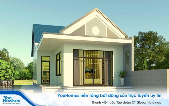 Mặt tiền nhà cấp 4 - 2 phòng ngủ nên sử dụng những vật liệu kính sẽ giúp căn nhà tận dụng được ánh sáng tự nhiên.
