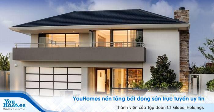 Không gian mở giúp cho căn nhà kiểu Nhật lung linh hơn khi trời tối.