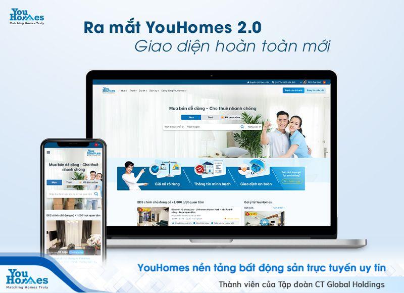 YouHomes sẽ ra mắt giao diện trang chủ mới vào tháng 6 tới đây.