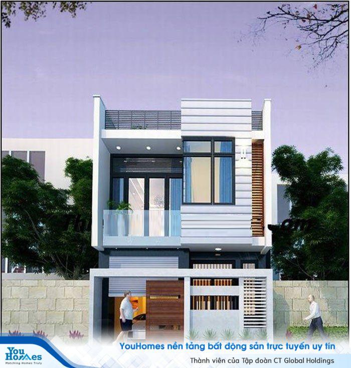 Hình khối vuông vắn đã tạo cho ngôi nhà thêm khỏe khoắn đầy mạnh mẽ.