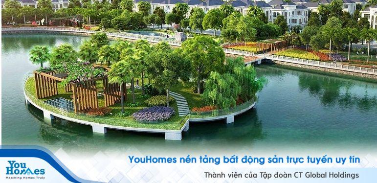 Hồ điều hòa 8 ha được xem như lá phổi xanh của khu đô thị Vinhomes Mễ Trì.