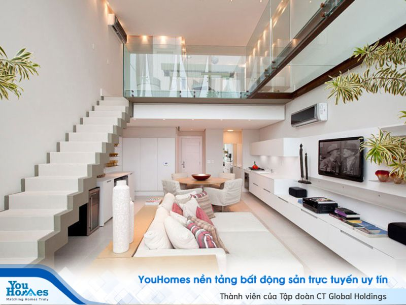 Tầng lửng giúp tối ưu hóa diện tích sử dụng cho những căn nhà nhỏ hẹp.