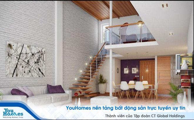 Để có thêm diện tích sử dụng cho nhà nhỏ hẹp có thể sử dụng các mẫu cầu thang nhỏ.