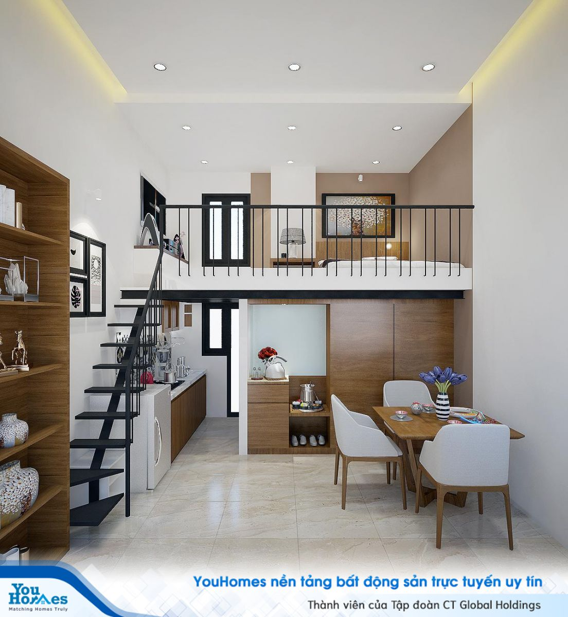 Kích thước của các đồ dùng nội thất cho các căn nhà nhỏ hẹp cũng nên được chú trọng.