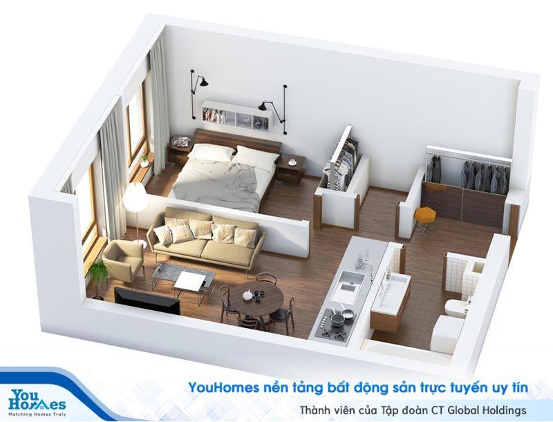 Một mẫu nhà nhỏ hẹp với thiết kế đầy đủ tiện nghi cực kỳ lý tưởng.