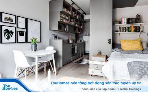 Căn nhà nhỏ hẹp với phong cách hiện đại cùng gam màu trung tính.