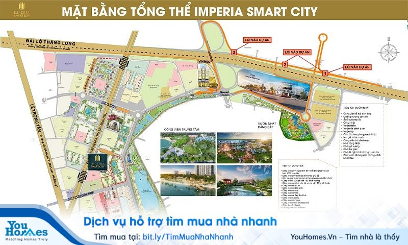 Imperia Smart City nằm ở vị trí trung tâm, thuận tiện cho việc đi lại