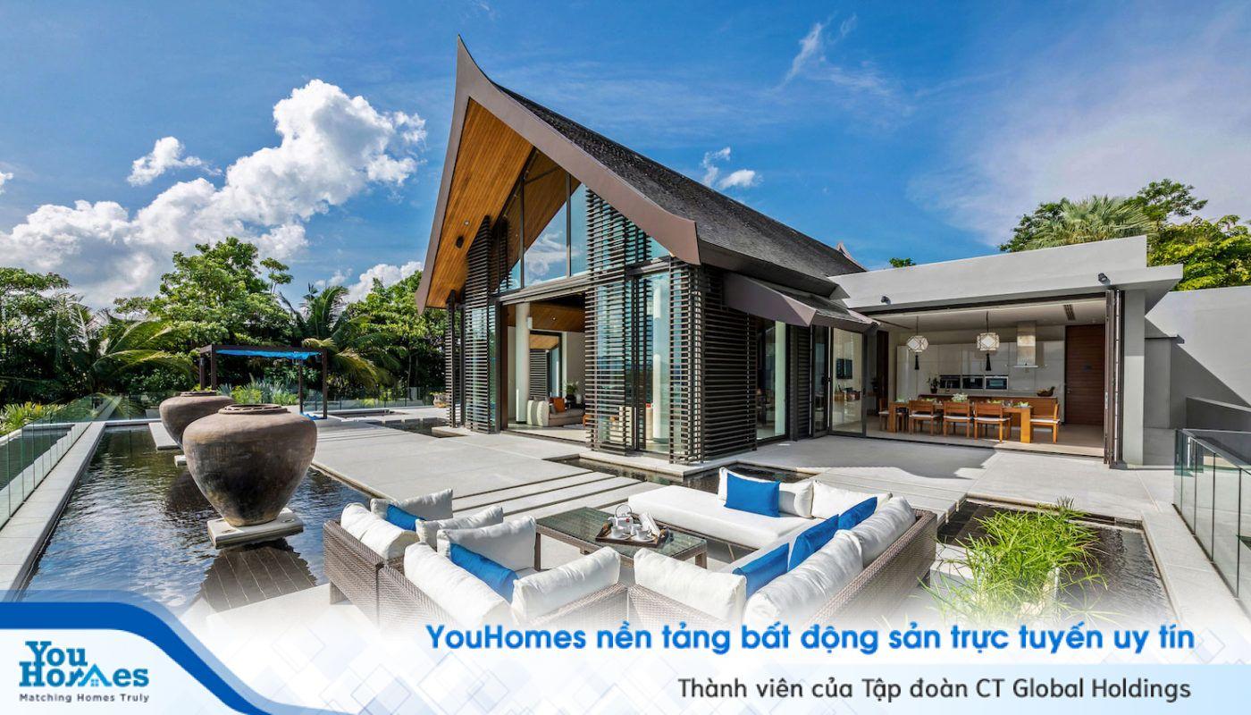 Căn biệt thự 1 tầng sở hữu bể bơi thì sẽ càng trở nên tuyệt vời hơn...