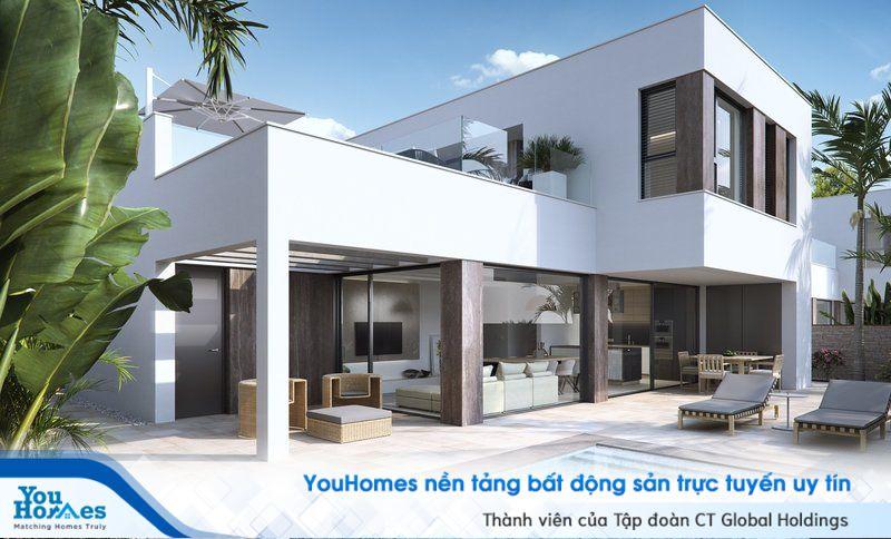Biệt thự 2 tầng tuyệt với với việc tối ưu hóa cho không gian bên ngoài