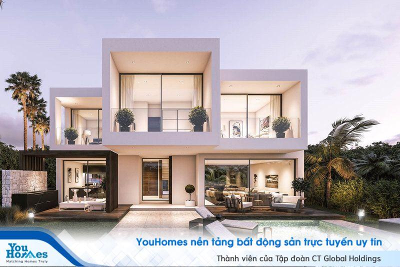 Biệt thự 2 tầng lý tưởng với bể bơi và sân vườn đầy đủ