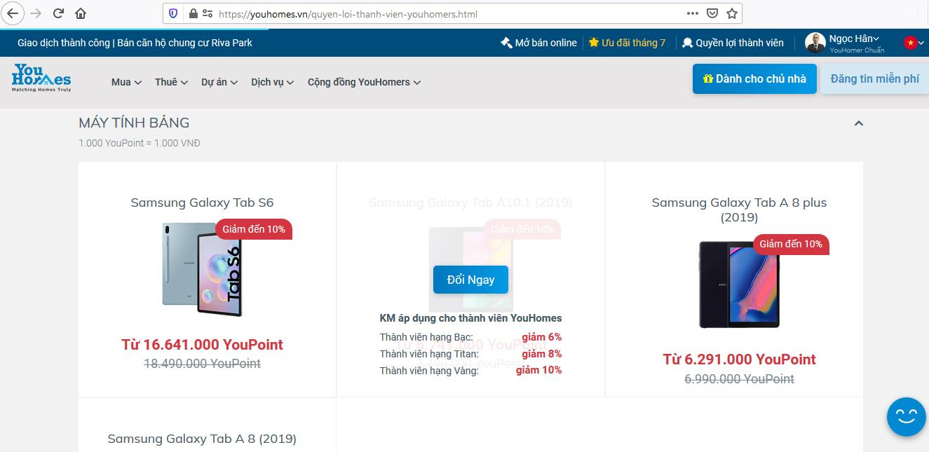 Các bước quy đổi YouPoint mua các sản phẩm Samsung - Ảnh 2