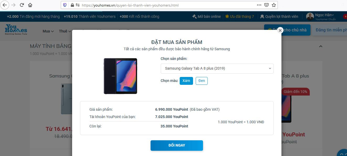 Các bước quy đổi YouPoint mua các sản phẩm Samsung - Ảnh 4