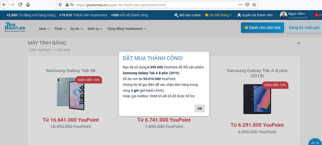 Các bước quy đổi YouPoint mua các sản phẩm Samsung - Ảnh 6