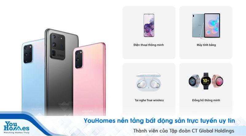 Thành viên YouHomer có cơ hội mua các sản phẩm điện thoại/ máy tính bảng chính hãng của thương hiệu Samsung với chiết khấu lên đến 10%