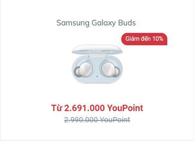 Mua Samsung Galaxy Buds tại YouHomes với mức giá siêu ưu đãi.