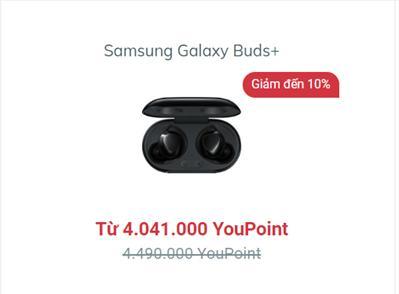 Mua Samsung Galaxy Buds+ tại YouHomes với mức giá siêu ưu đãi.