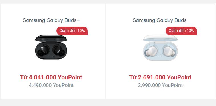 Mua tai nghe chính hãng Samsung với mức ưu đãi đặc biệt tại YouHomes.